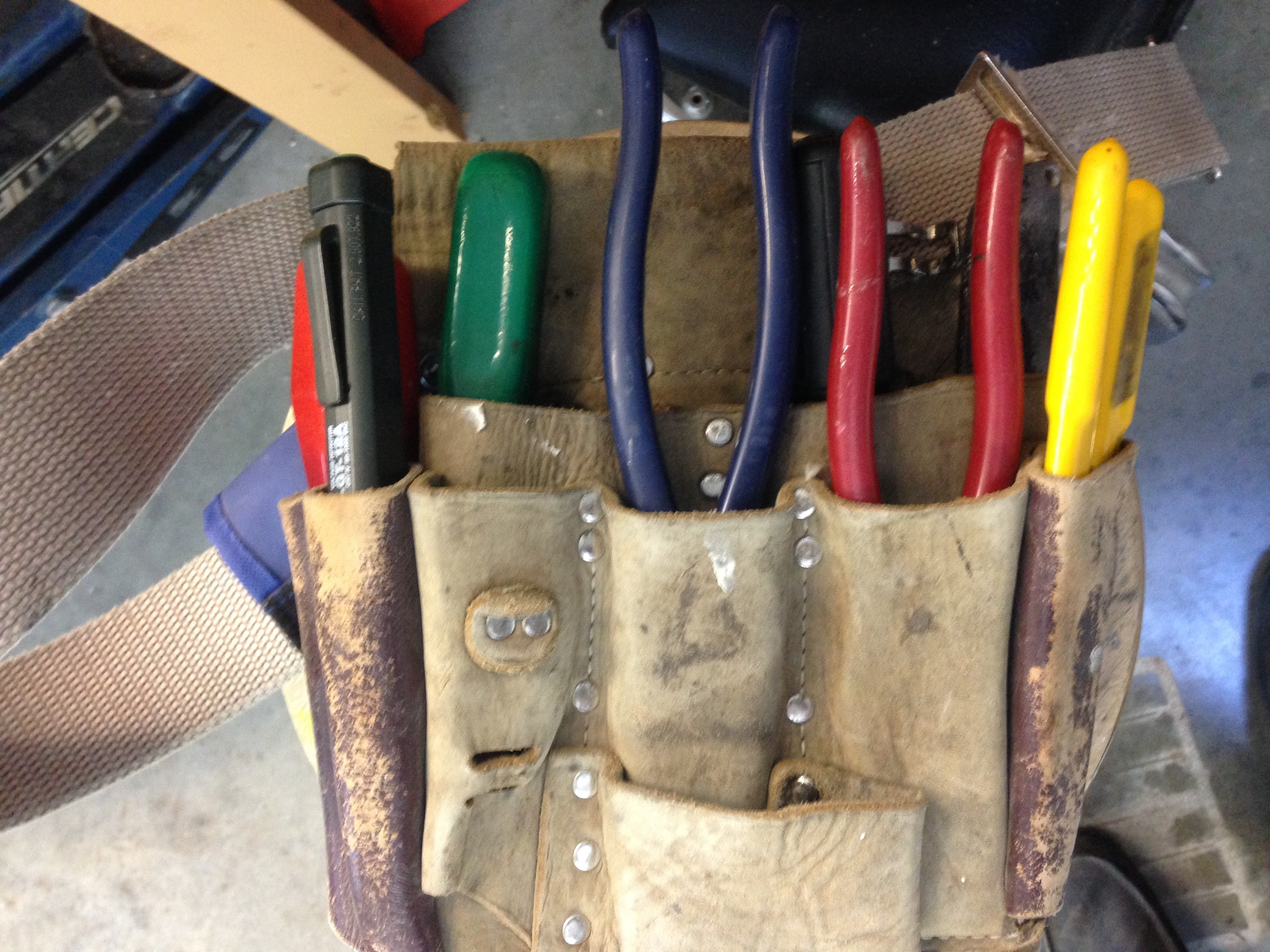 picture of my tools used - life as an electrician in the Comox Valley