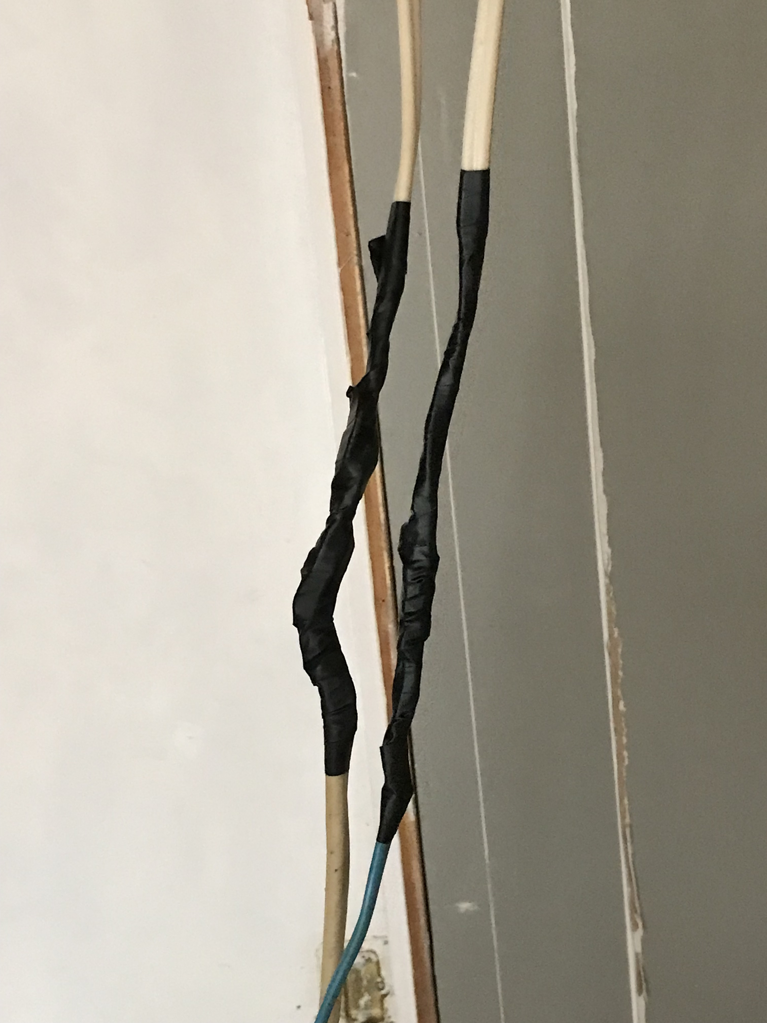 picture of illegal splicing - replacing it can help with preventing electrical fires