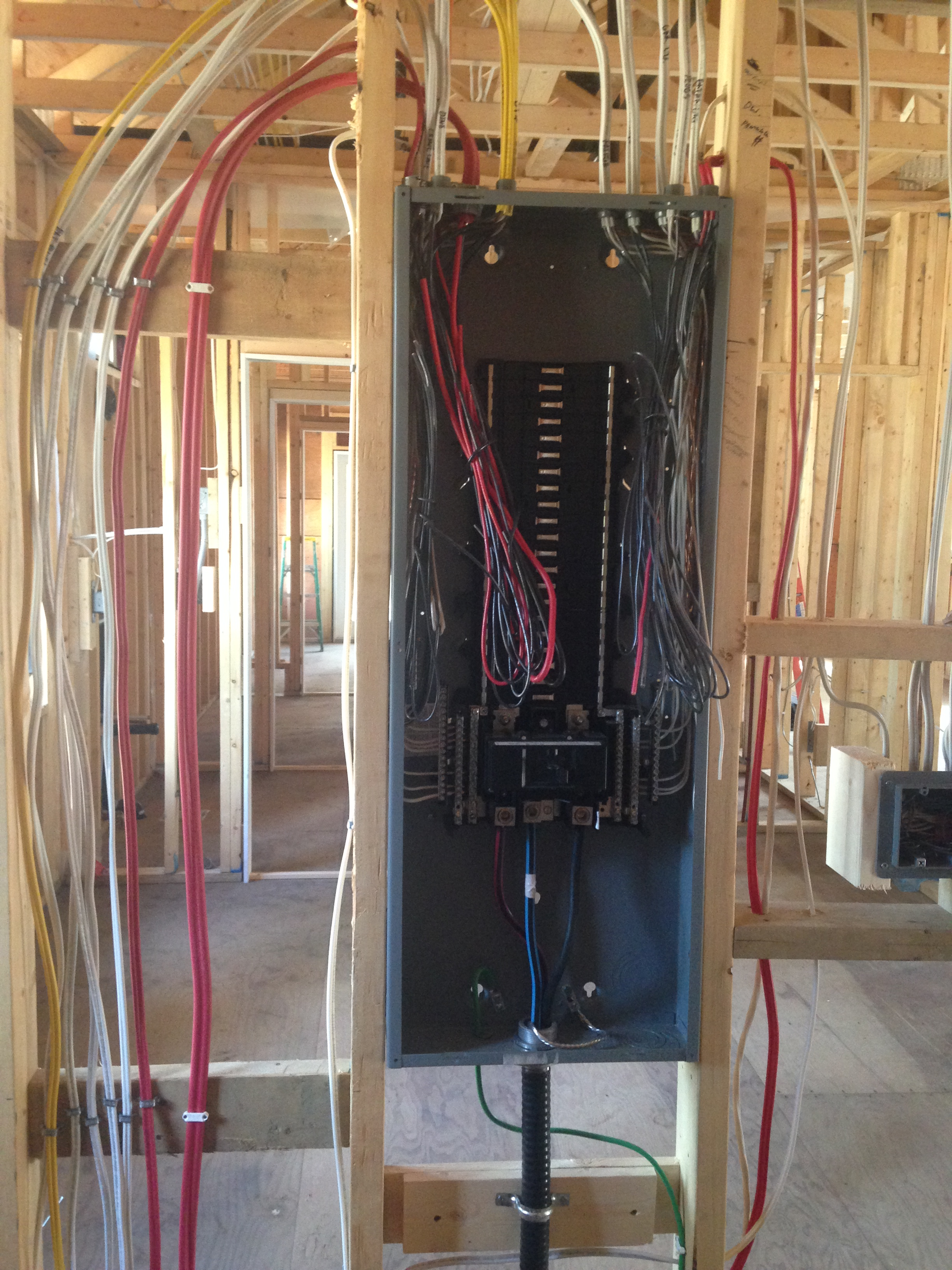 panel work picture - life as electrician in the comox valley