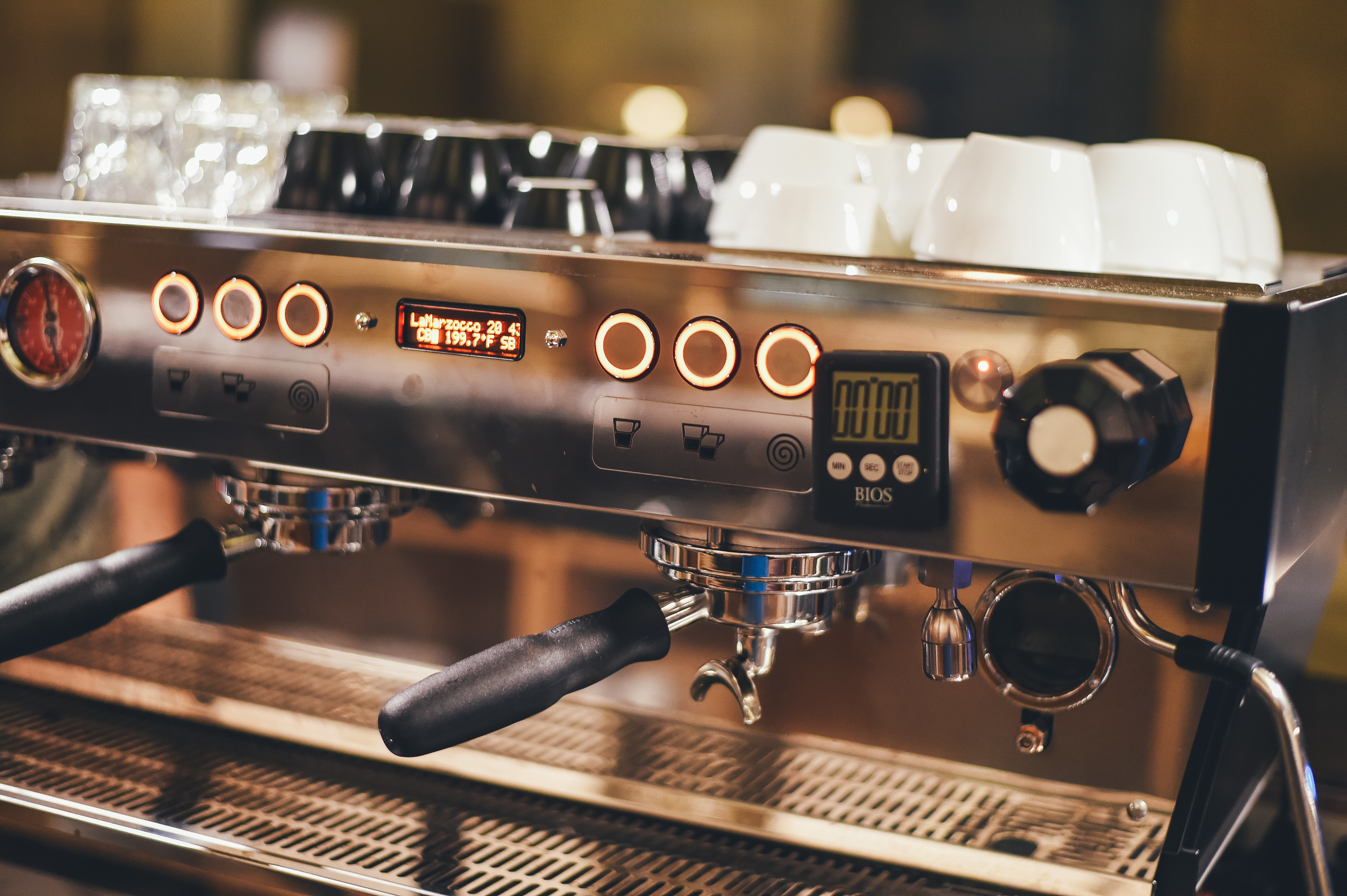 photo of espresso machine - hire a licensed electrician for appliance power feeds