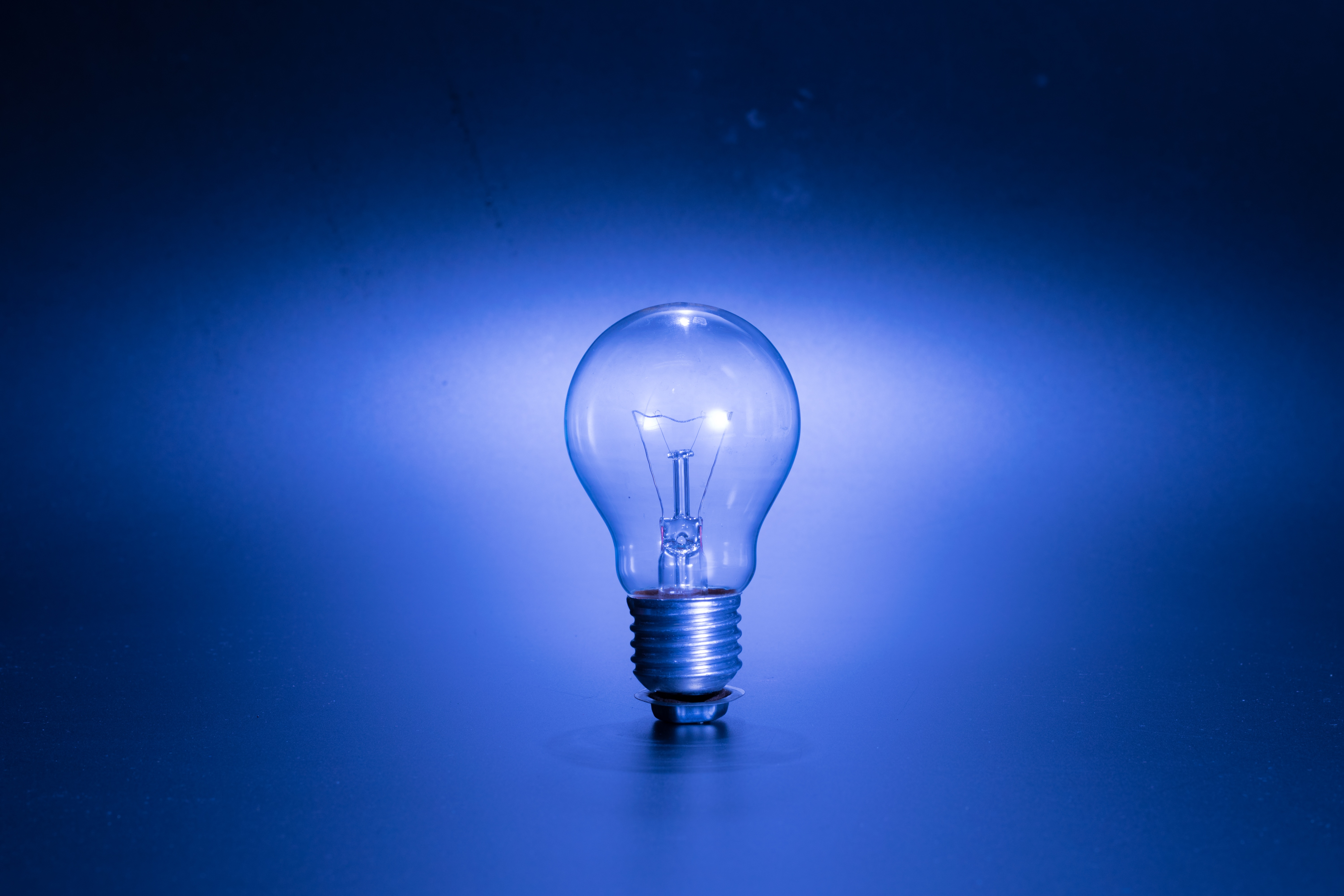 photo of lightbulb - lighting upgrades are one of 50 energy saving upgrades for business owners